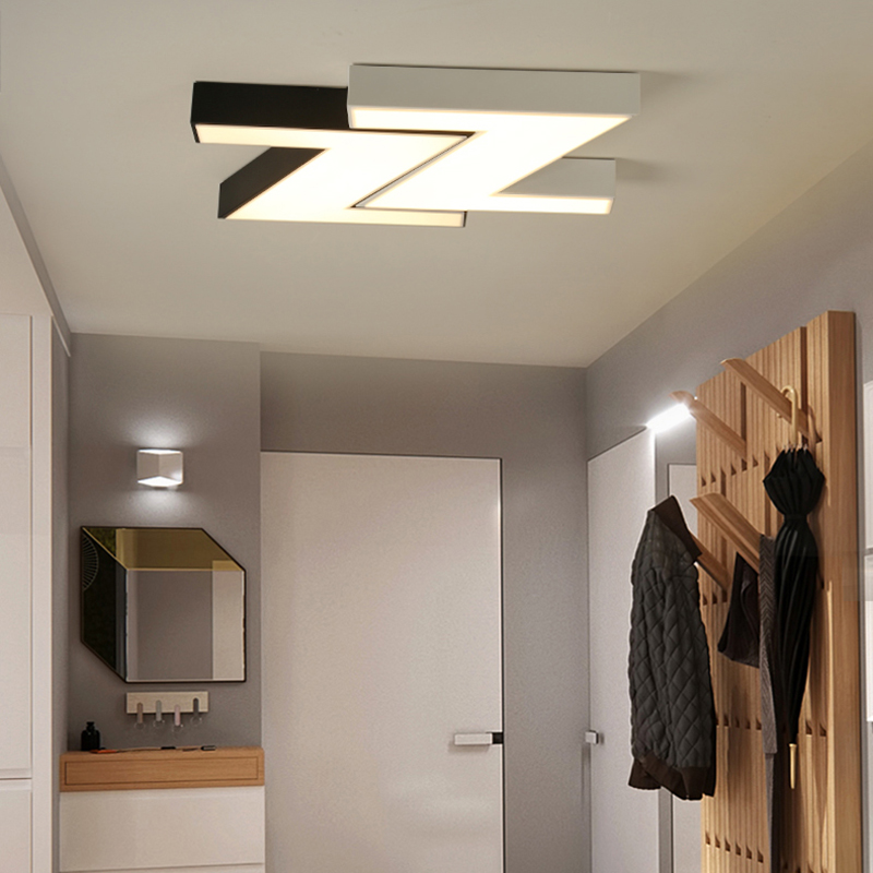NEO Gleam Minimalism DIY Modern Led  Ceiling Lights For Kids Children Room Living Room Bedroom Deco White/Black Ceiling lamp neo gleam rectangle modern led ceiling lights for living room bedroom white or black aluminum 85 265v ceiling lamp free shipping
