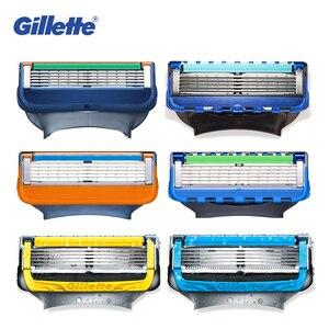 Image 3 - Gillette Fusion Scheermesjes Voor Mannen Razor Scheerapparaten Meer Glad ProGlide Proshield Veiligheid Scheermes Vullingen