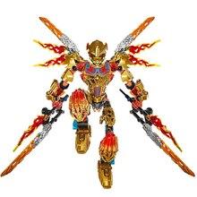 цена на BIONICLE 209pcs Tahu Ikir action figures 612-4 Building Block toys Compatible With Sermoido BIONICLE Gift