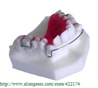 Free Shipping Orthodontics treatment model study dental tooth teeth dentist dentistry  odontologia Tyodont Model 2016 dental orthodontics typodont teeth model half metal half ceramic brace typodont with arch wire