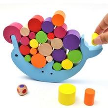 купить Balancing Frame Baby Early Learning Toys Montessori Educational Balance Colorful Early Development Wood Blocks Toy Tik TOK Kacuu по цене 474.81 рублей