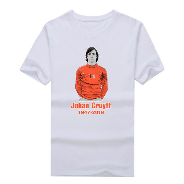 2017 Holanda Lenda Johannes Johan Cruyff Lembrança RIP T-shirt CAMISA dos homens T Moda Padrinho Holland W1118003