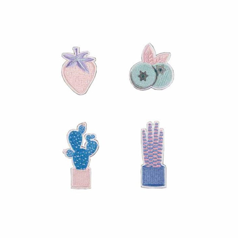 Cactus Rabbit Patch Embroidered Patches For Clothing Iron On Close Shoes Bags Badges Embroidery