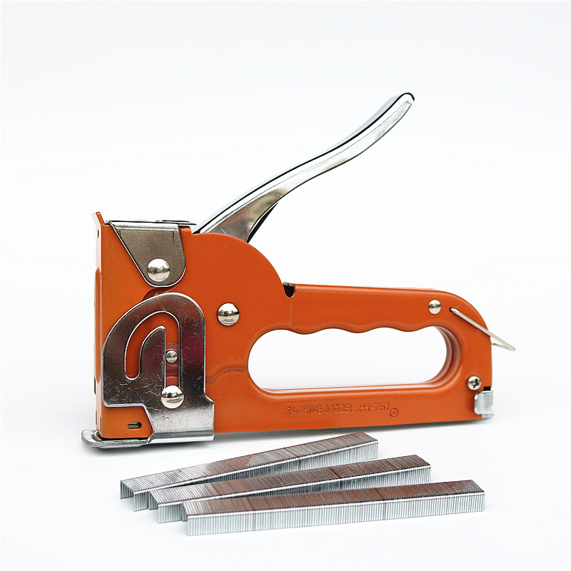 Multi-purpose Manual Stapler Heavy-duty Binding  Wooden Board And Leather Tacker Contains 2500 Staples Office Woodwork Binding