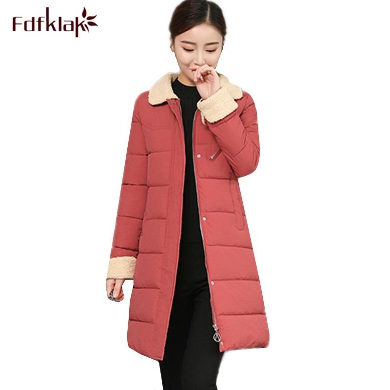 authorized site sale wholesale dealer Fdfklak New Korean Winter Outerwear Women Winter Jacket Women's ...