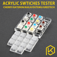 acrylic Switch Tester 2X2 2X3 4X4 clear housing for cherry kailh outemu gateron greetech black red blue brown green orange white(China)