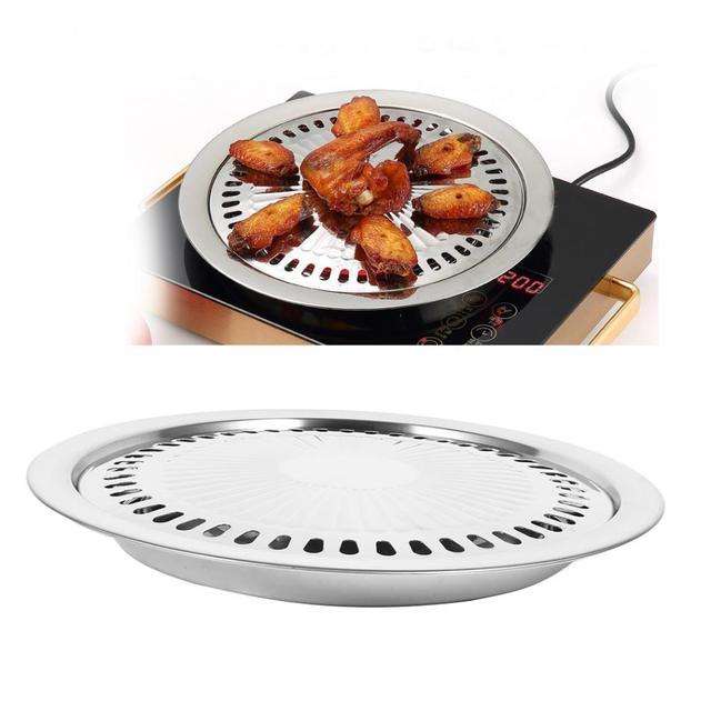 BBQ Grill Rack Edelstahl Küche Grill Pan Indoor Outdoor Nonstick ...