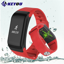 KY F1 pedometer fitness bracelet blood pressure women smart bracelet android heart rate monitor trackersmartband life waterproof