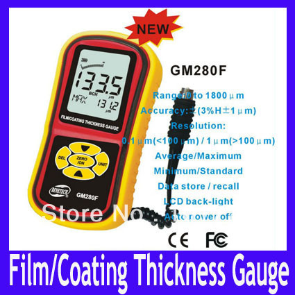 EMS/DHL Free shipping Film / Coating Thickness gauge GM280F,MOQ=1