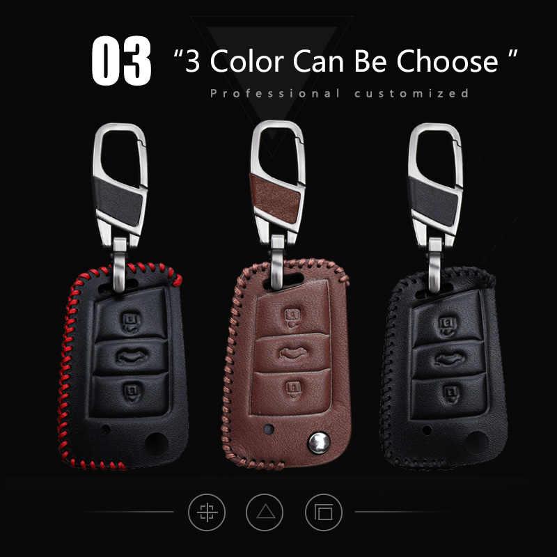 Coche de cuero genuino cubierta para asiento Leon 1 3 FR Mk3 5F Ibiza Alhambra Altea Ateca Toledo córdoba accesorios de llavero Mii