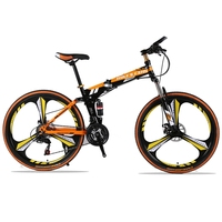 24 Speed 26 Inch Mountain Bike Folding Bicycle Road Bike Brand Unisex Full Shockingproof Frame Bicycle