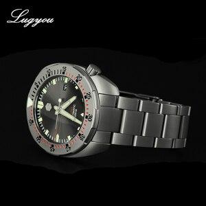 Image 2 - Lugyou San Martin Taucher Männer Uhr Mechanische Edelstahl Sand gestrahlt Sapphire 20ATM Wasserdicht Metall Armband Lum