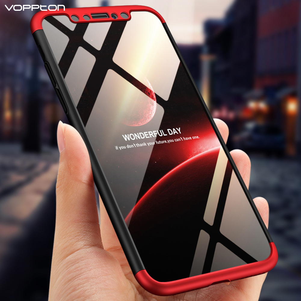 Voppton 360 Full Protective Case For iPhone Xs Max 3 IN 1 Matte Hard Back Cover Phone Case for iPhone Xs Xs MAX Xs Shockproof iPhone XS