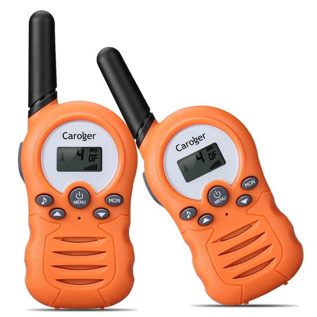 EU 2 pieces Caroger CR388A License-Free 8 Channel Walkie Talkies PMR446MHZ Two Way Radio Up to 3300 Meters/2 Miles Interphone