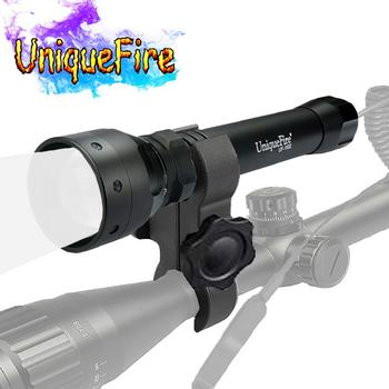 UniqueFire 1502 IR 940nm Led Flashlight 3 Modes Zoomable Infrared Light Night Vision Torch with Scope Mount for Night Hunting