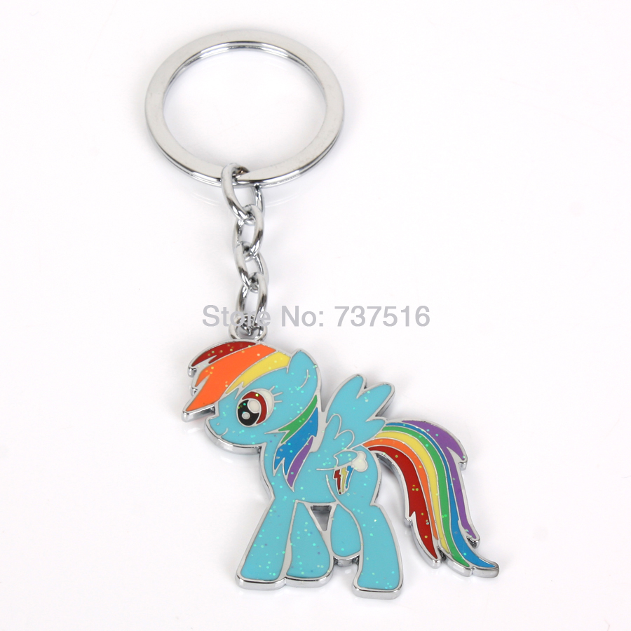 New Arrived Ponies Lovely Friendship Is Magic Blue Rainbow Horse Dash Rare Metal Product Best Holidays Gifts