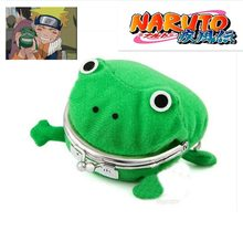Anime Cartoon Hokage Ninjia Naruto Frog Coin Purse Cosplay Props Frog Wallet Manga Flannel Coin holder Cute Bag(China)