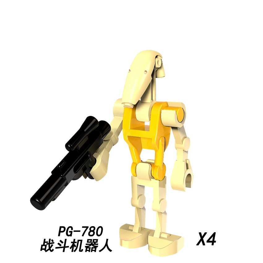 Legoing Star Wars Single Sale PG780 Battle Droid Starwars Figures Model Buildings Blocks Dolls Toys For Children Bricks Legoings