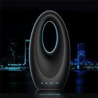luxury Dubai Sailing Hotel Touch Bluetooth Bass Sound Card Speaker with FM Radio Hands-free Mic Colorful Light Boat Speaker Lamp