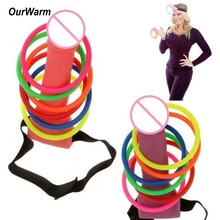 OurWarm Bachelorette Party Decorations Bride To Be Hat Ring Toss Game Hen Night Gift Favor Adult Games Festive Supplies
