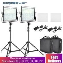 capsaver L4500 LED Video Light Kit Dimmable 3200K-5600K 15W CRI 95 Stu