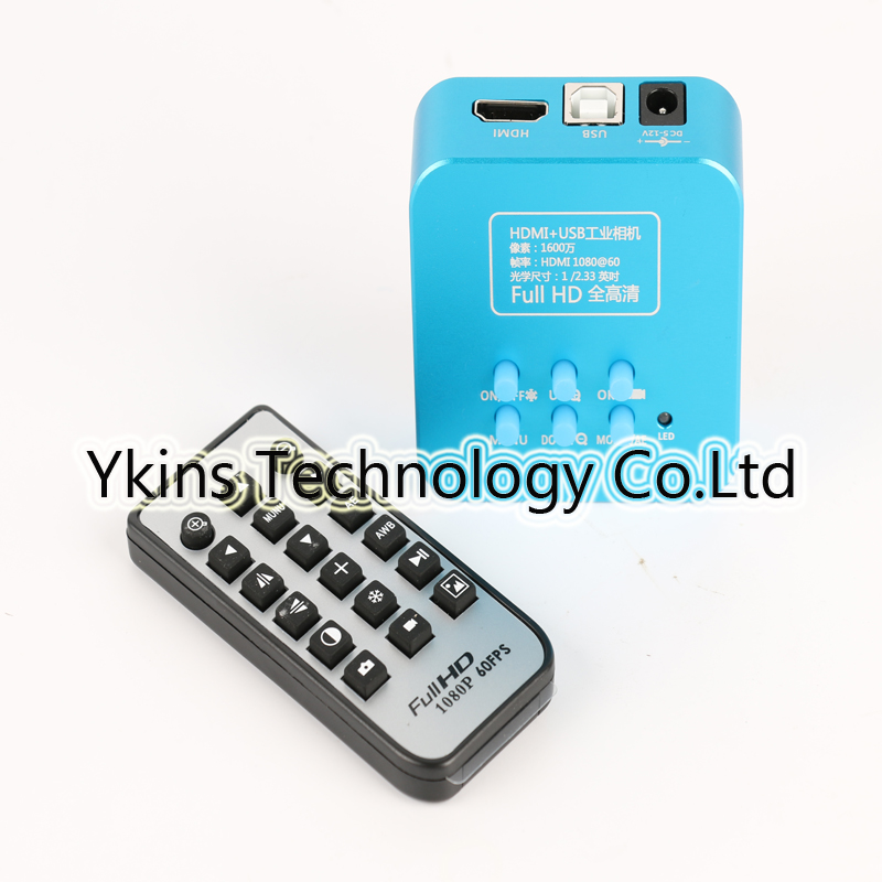 16MP Full HD 1080P 60 / Fps HDMI USB Industrial Digital Microscope Camera Remote Control for Mobile Phone CPU Repair