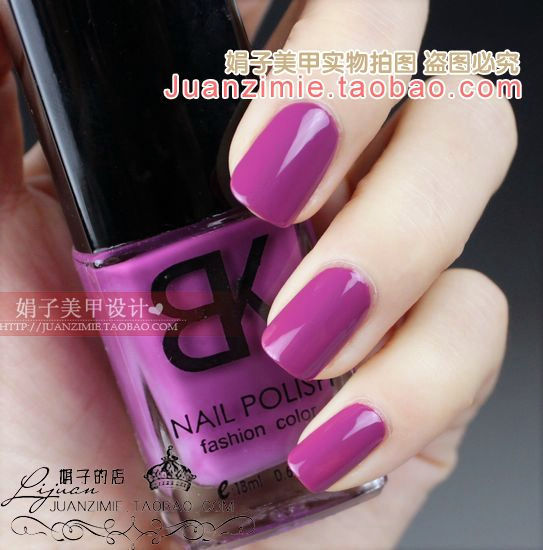 Bottle nail art casebottle bk nail polish oil 18ml liangcai 114 purple