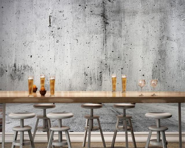 Benutzerdefinierte betonwand foto 3d tapete nostalgischen stein ...