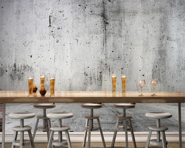 custom concrete wall photo 3d wallpaper nostalgic stone wall texture