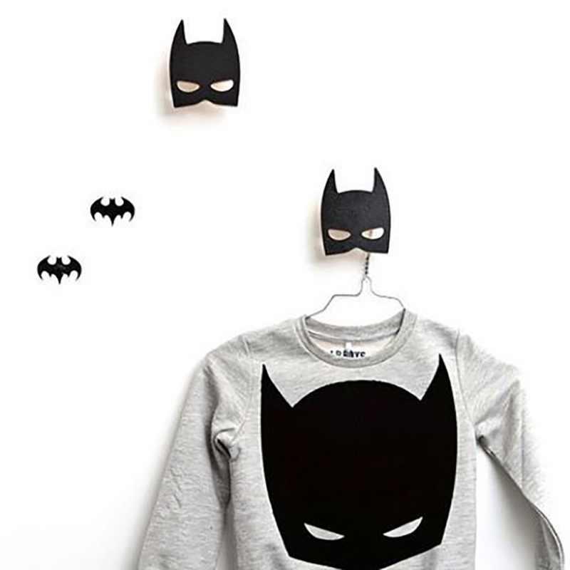 Creativo di Legno Rocket/Bat/Batman Decorazione Gancio Per La Camera dei bambini Decorazione Della Parete Hanger Hook Holder Home Decor