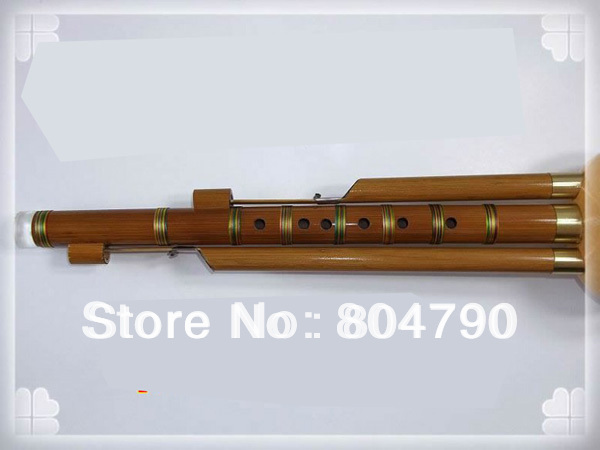 *New Arrival *Chinese Hulusi Drone Bamboo Flute in A//bB//C//G//F key+Flute Case Box