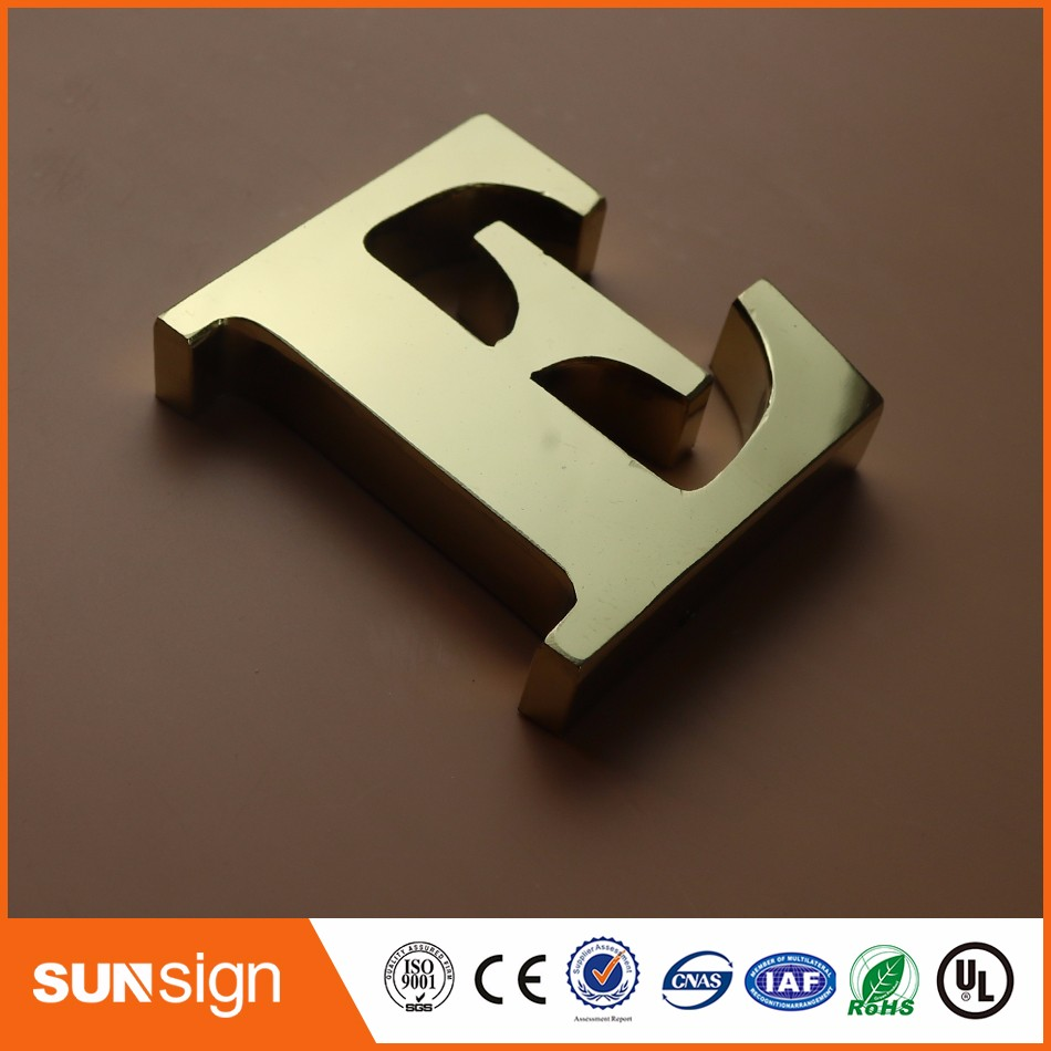 Advertising Brushed Stainless Steel Channel Letter Metal Sign