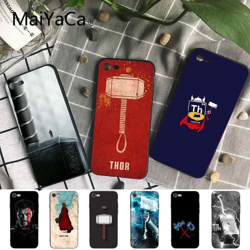 Maiyaca Marvel The Avengers Thor Pattern TPU Soft Phone Case for iPhone 8 7 6 6S Plus X XS MAX 5 5S SE XR 10 Cases