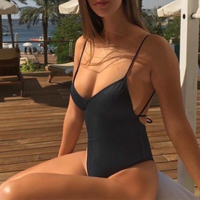 Mekilyn Newborn Baby Girls Onepiece Glitter Solid Swimsuit Backless Halter Ruffles Beachwear Bathing Suit