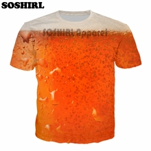 Amazing 3D all-over-print Red Beer men's t-shirt