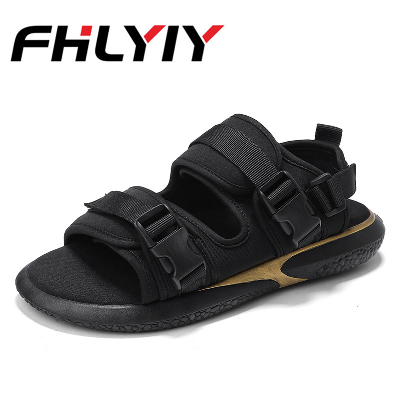 Men Shoes Sandals Summer Slippers Fashion Beach Sandals Casual Flat Slip on Flip Flops Men Hollow Outdoor Street Slip On Shoes