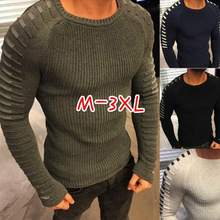 ZOGAA2018 New Sweater Men Arrival Casual Pullover Men Autumn Round Neck Patchwork Quality Knitted Brand Male Sweaters Size M-3XL