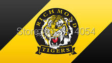 Richmond Tigers Flag 150X90CM AFL 3X5FT Banner 100D Polyester grommets custom009, free shipping