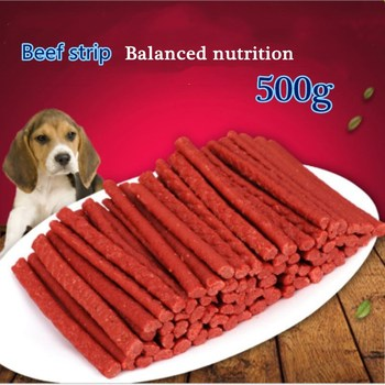 Pet Feeding Food Healthy Delicious Senior Dog Snack Beef stick 500g Dog Food Training Snacks 1