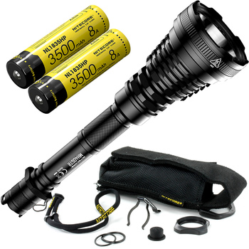 2020 NITECORE 1200Lms MH40GTR with 2x 18650 Battery Hunting Search Torch Ultra Long Range 1004M Tactical Rechargeable Flashlight