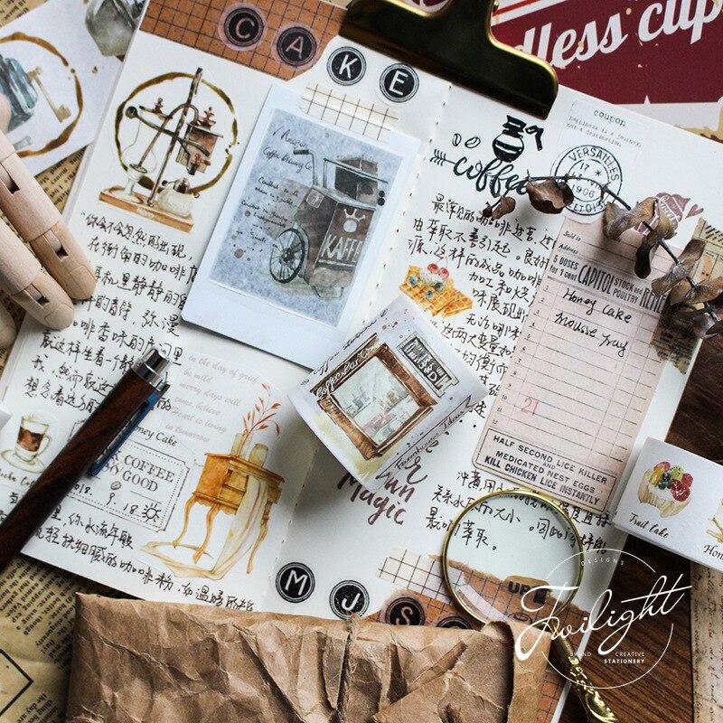 Coffe Baking Washi Tape Diy Decorative Scrapbooking Masking Tape Adhesive Label Sticker Tape Stationery