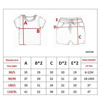Summer Cartoon Clothing Set For Boys 5
