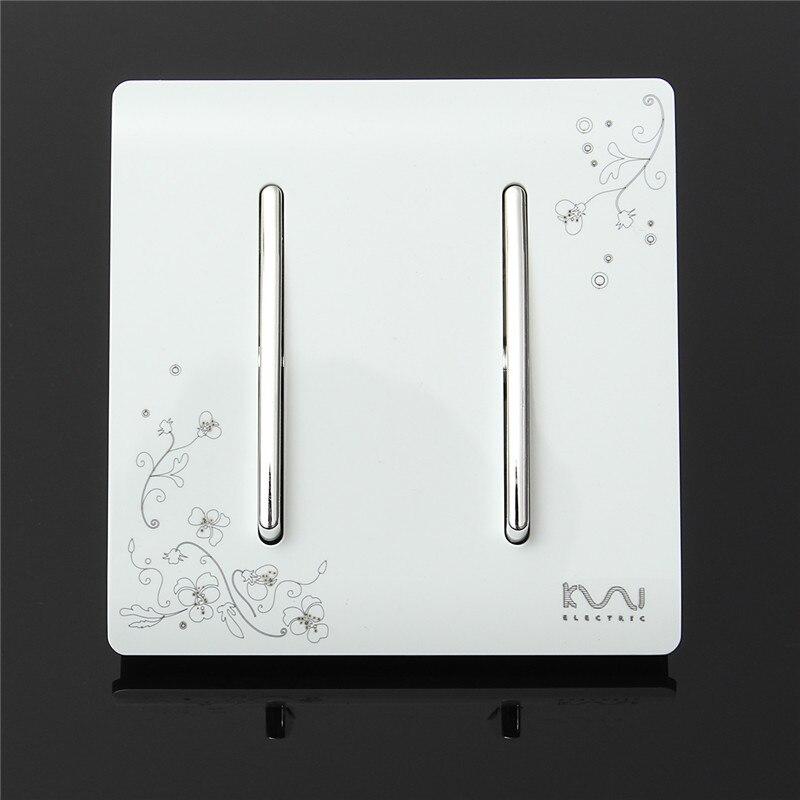 цены Kempinski Brand Luxury Wall Switch, 2 Gang 2 Way, Ivory White, Brief Art Weave, Light Switch, AC 110~250V Lowest Price