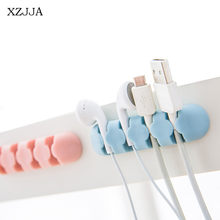 XZJJA 2PC Multifunctio Paste Desktop Electric Wire Receive Clip Hook Headphone Cord Holder Mobile Phone Charging Data Line Clamp(China)
