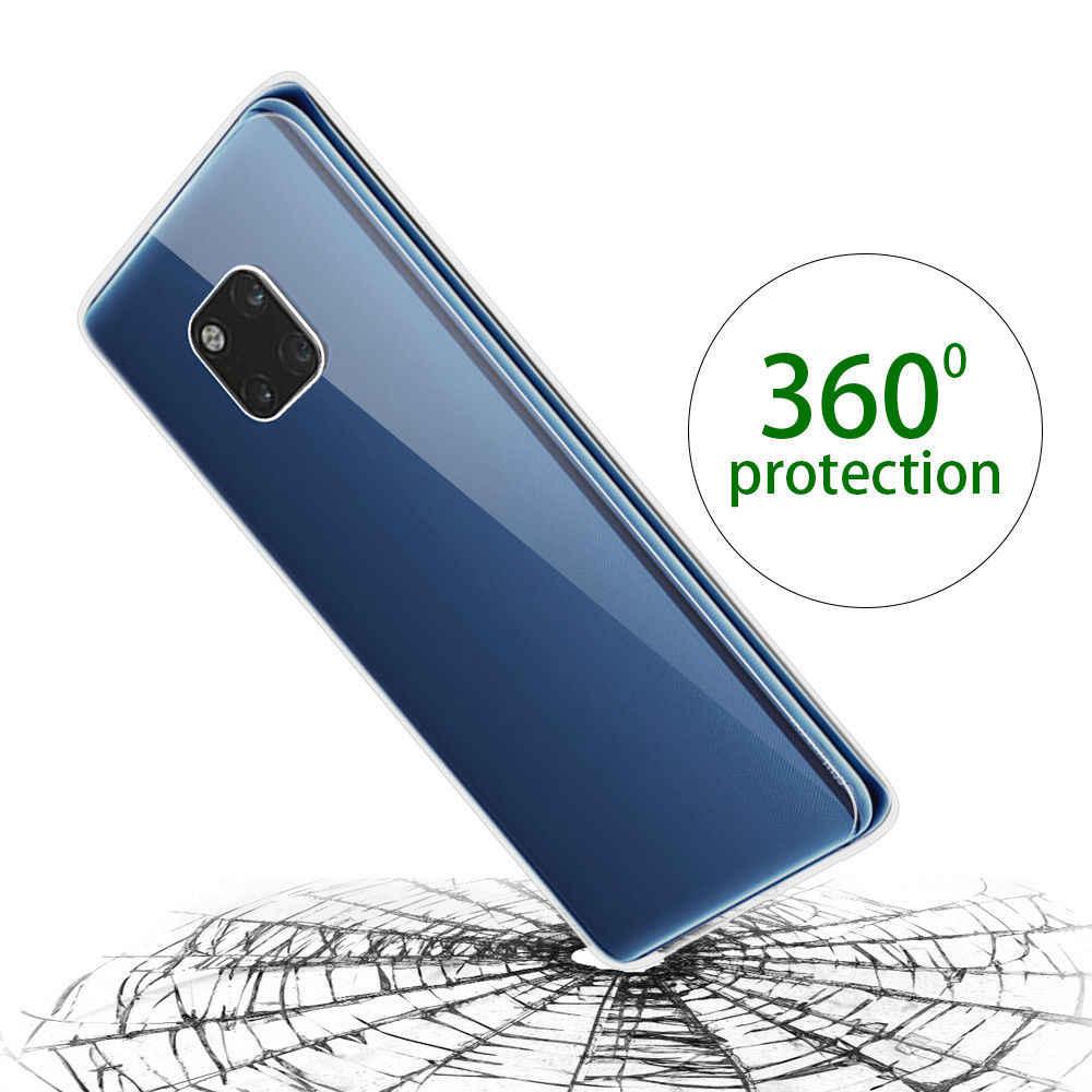 360 двойной Мягкий силиконовый чехол для huawei P30 P20 Pro P10 P8 P9 Lite 2017 P Smart Y6 Y7 Prime 2019 Honor 8A 8C Коврики 10 20 чехол s
