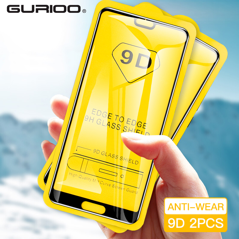 2 Pcs 9D Tempered Glass For Huawei Honour 6X 7X 8X Max 7A 8A Play magic 2 Screen Protector For Honor V8 8S 8 Lite Glass Film(China)