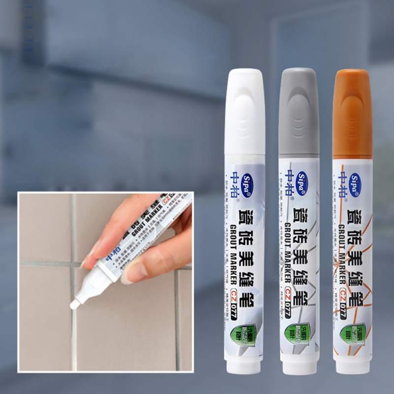 1pc Tile Gap Repair Grout Pen White Tile Refill Waterproof Mouldproof Home Tile Grout Marker Repair Wall Tools Random Color