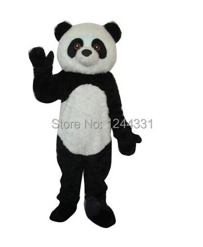 Длинный плюшевый панда размер взрослых костюм талисмана размер   sml XL XXL 2ceaa0c4ac7c0
