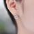 2016 Hot 925 Libras Esterlinas acessórios de Prata brincos para as mulheres Dançando CZ Diamante Pedra Natural jóias crianças acessórios