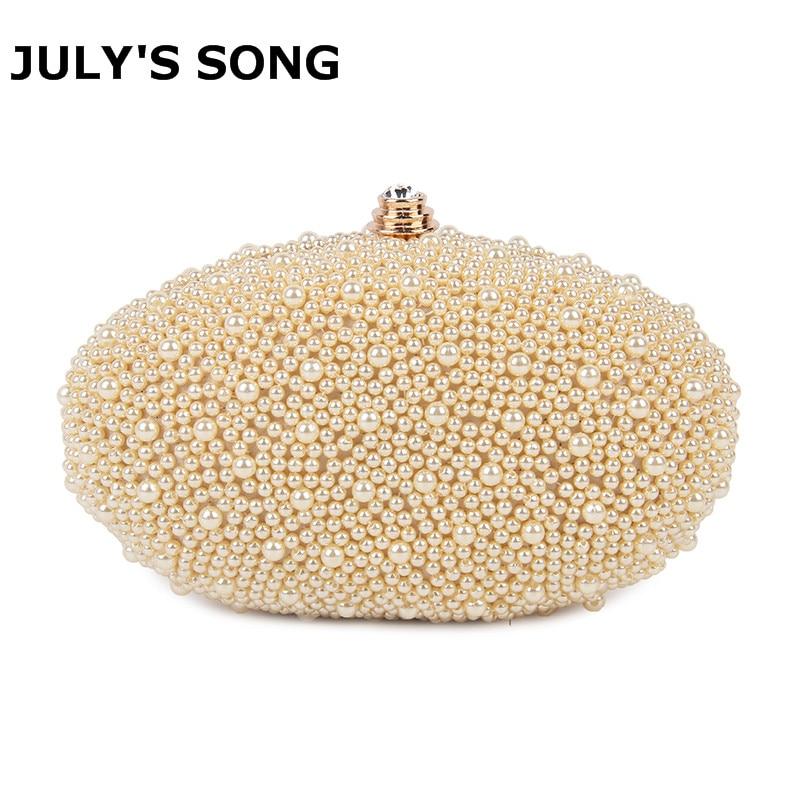 Pearl Beading Evening Bag Bridal Wedding Party Diamond Clutch Purse Small Chain HandBags Day Wallet Purse